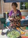 Bonnie cooks at the market
